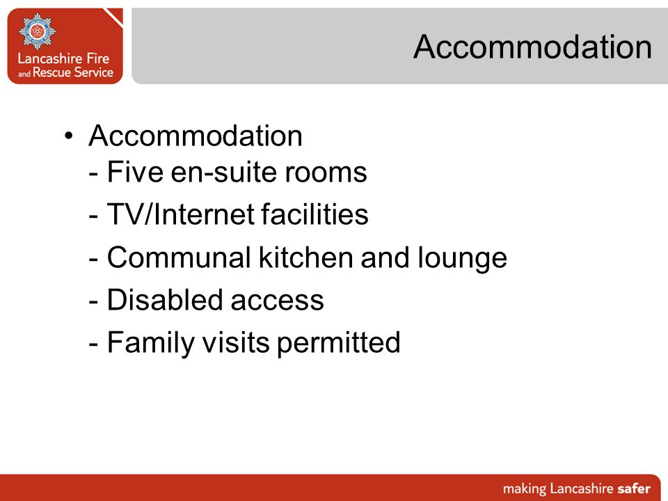 Accommodation Accommodation - Five en-suite rooms