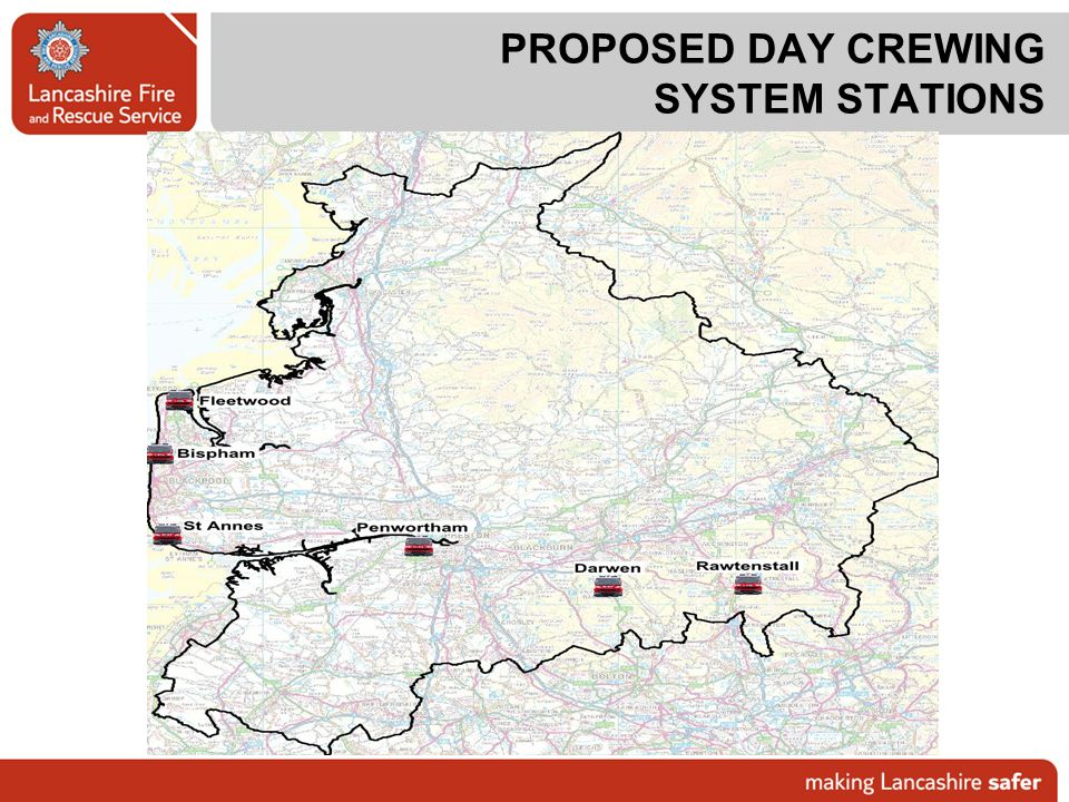 PROPOSED DAY CREWING SYSTEM STATIONS
