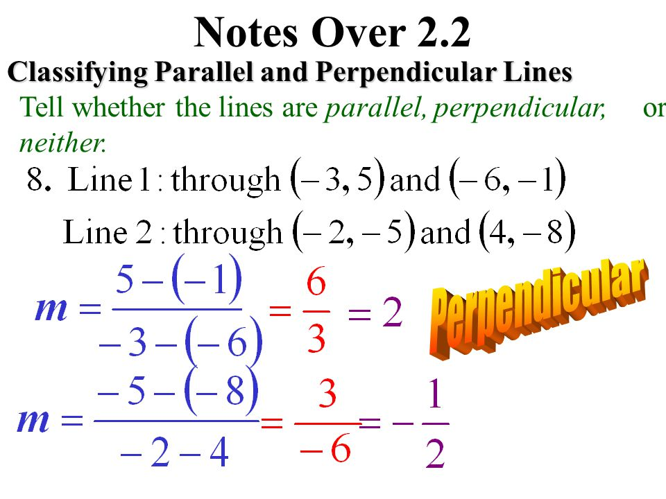 Notes Over 2.2 Perpendicular