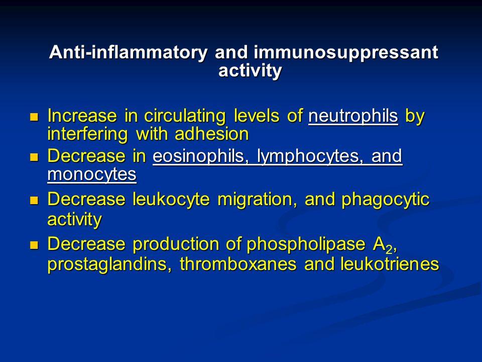 Anti-inflammatory and immunosuppressant activity