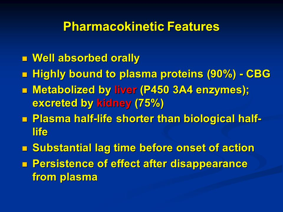 Pharmacokinetic Features