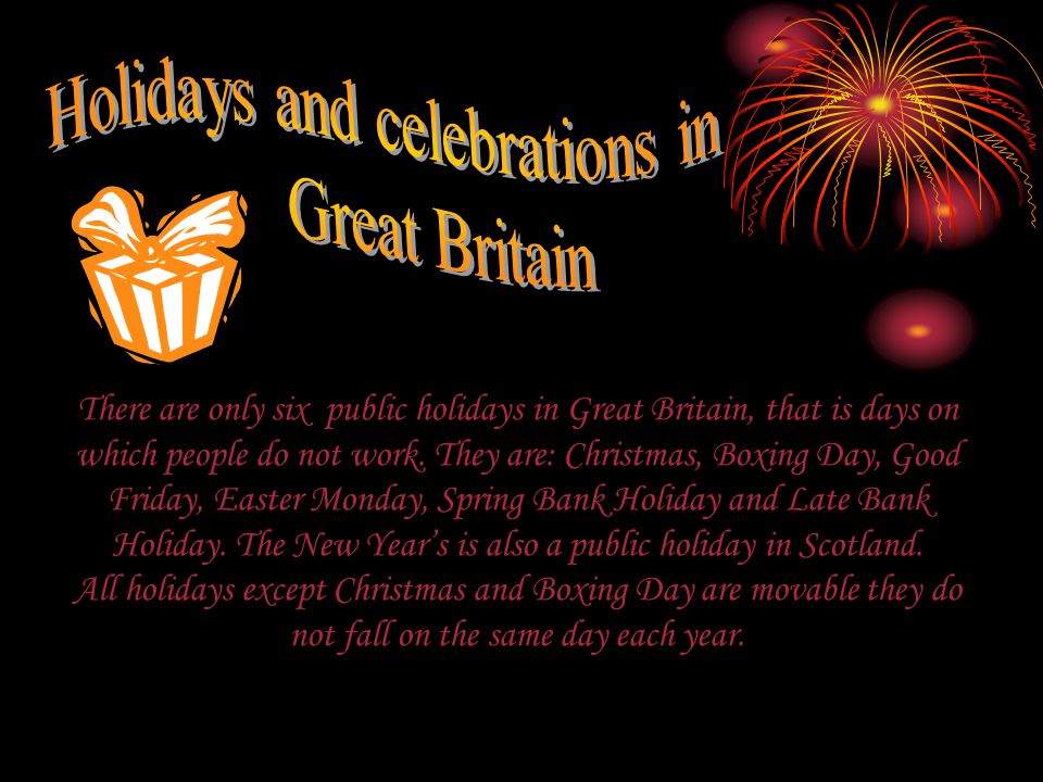 Holidays and celebrations in