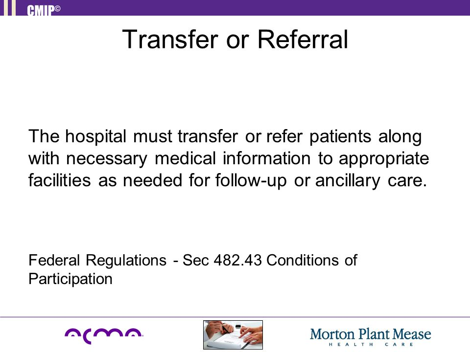 Transfer or Referral