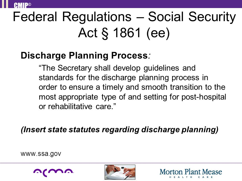 Federal Regulations – Social Security Act § 1861 (ee)