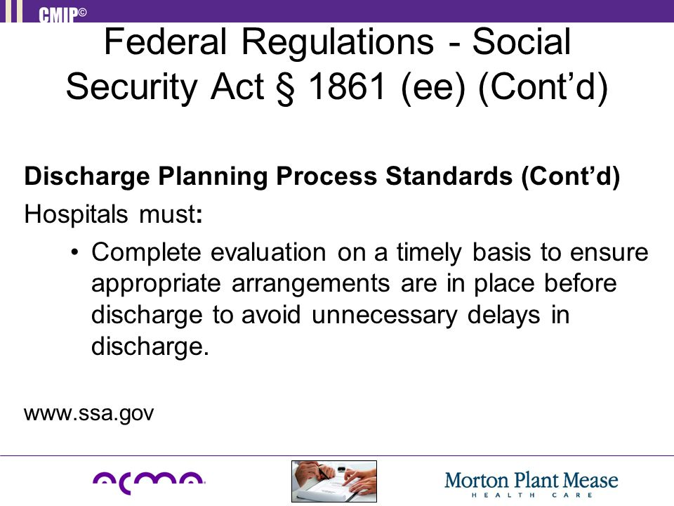 Federal Regulations - Social Security Act § 1861 (ee) (Cont'd)