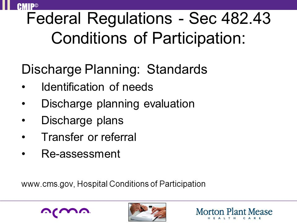 Federal Regulations - Sec 482.43 Conditions of Participation: