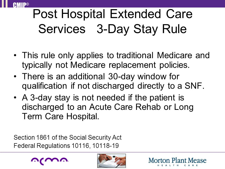 Post Hospital Extended Care Services 3-Day Stay Rule