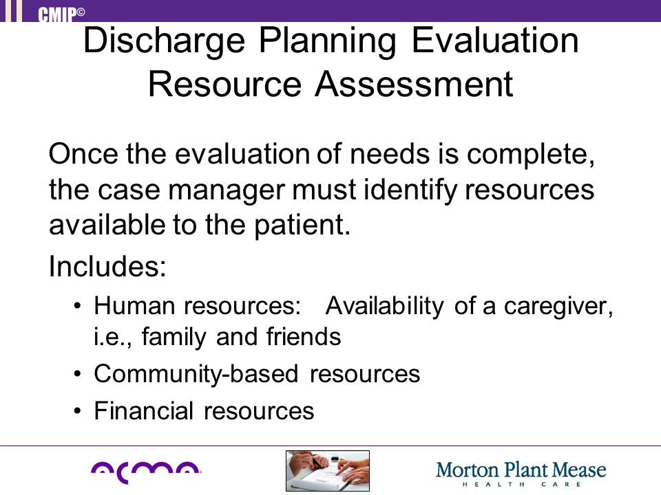 Discharge Planning Evaluation Resource Assessment