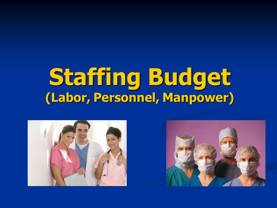 Staffing Budget (Labor, Personnel, Manpower)