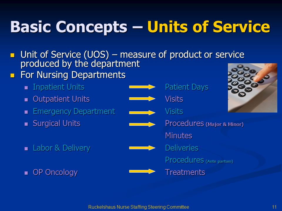 Basic Concepts – Units of Service