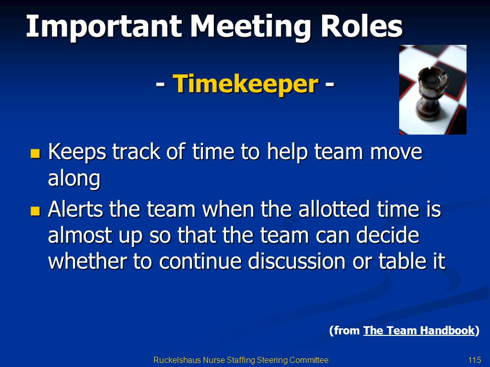 Important Meeting Roles
