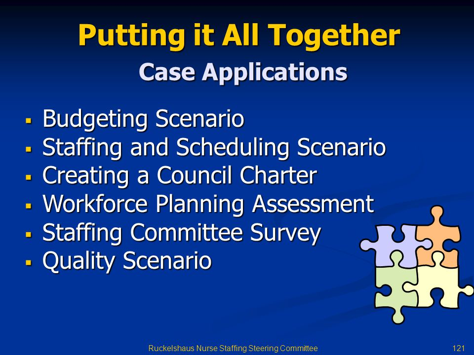 Putting it All Together Case Applications