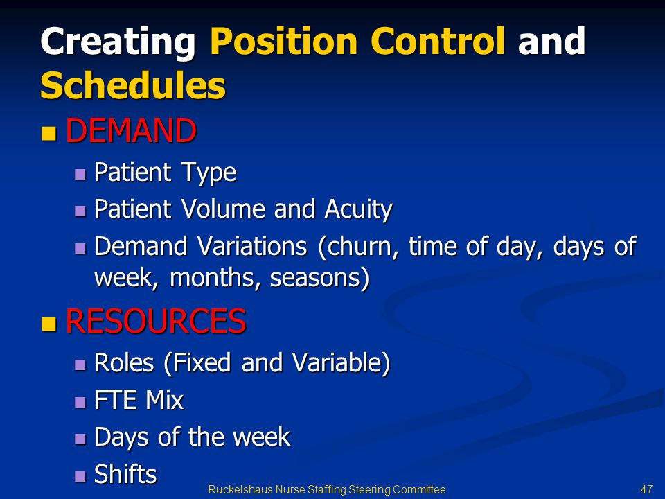Creating Position Control and Schedules