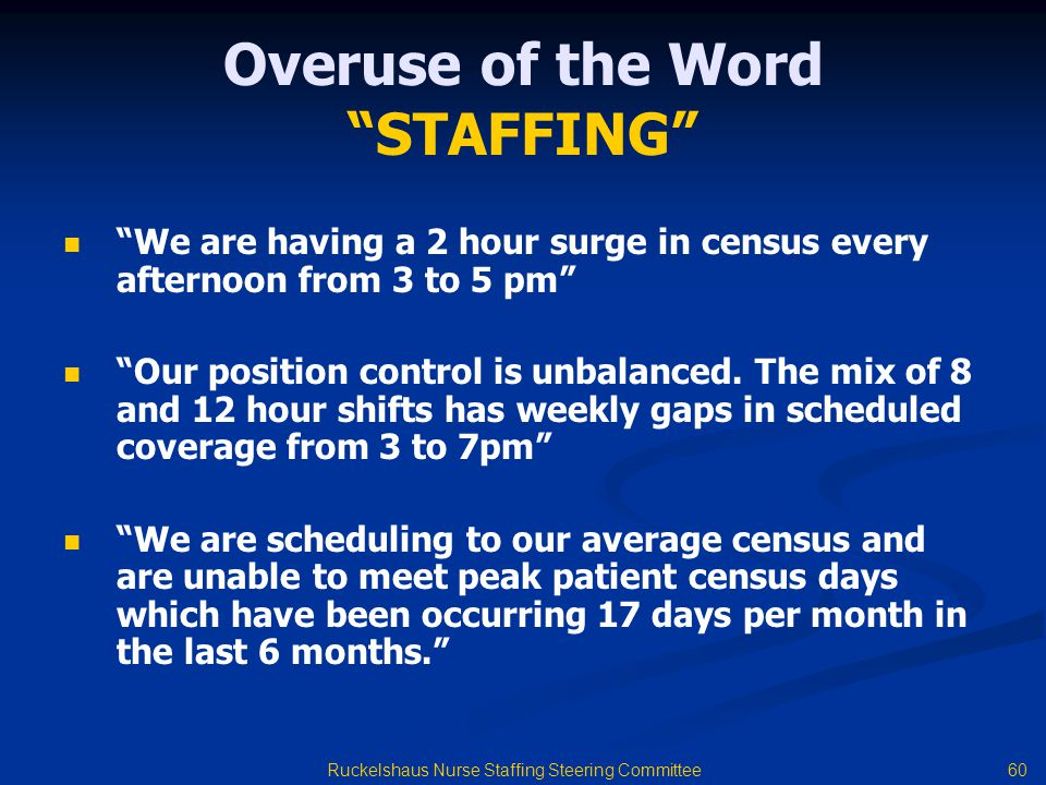 Overuse of the Word STAFFING