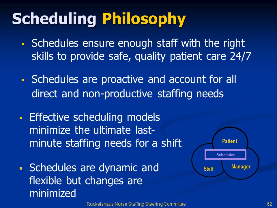 Scheduling Philosophy