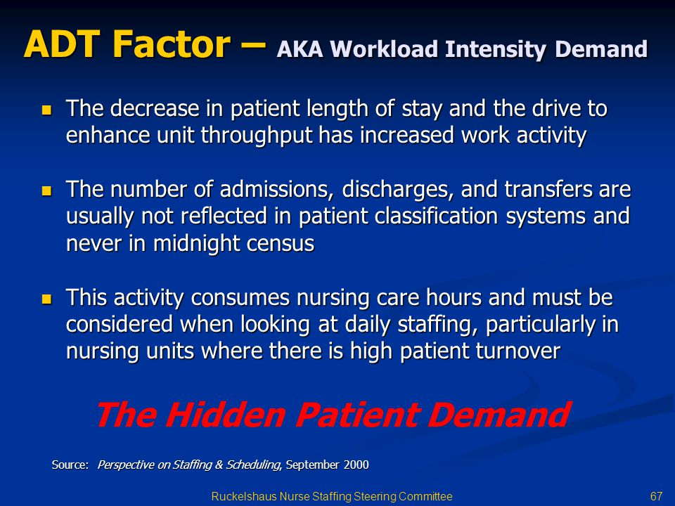 ADT Factor – AKA Workload Intensity Demand