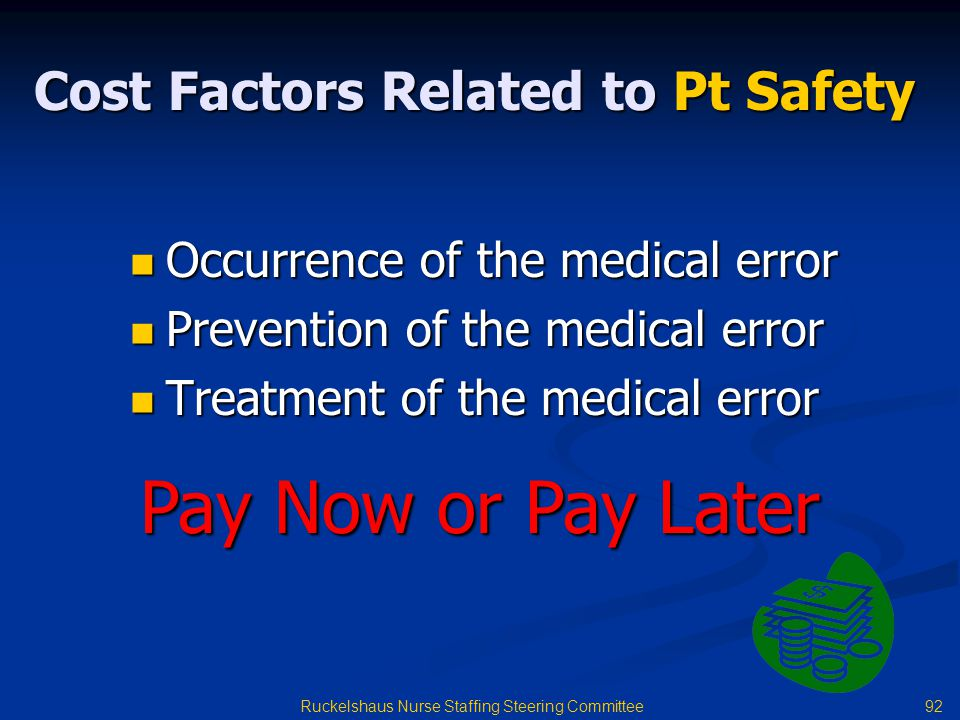 Cost Factors Related to Pt Safety