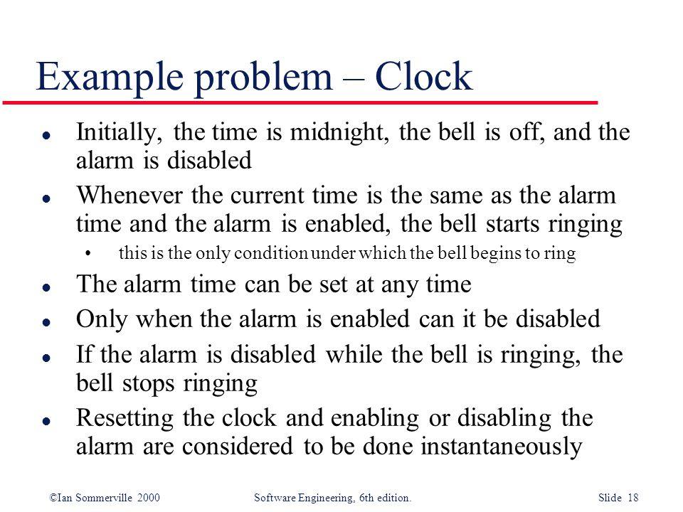 Example problem – Clock