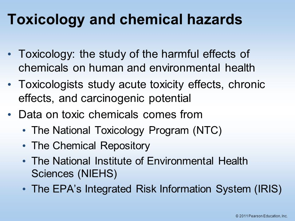 Toxicology and chemical hazards