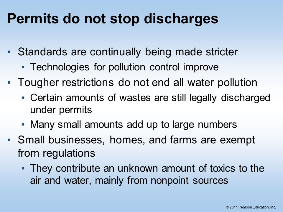 Permits do not stop discharges