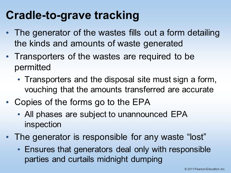 Cradle-to-grave tracking