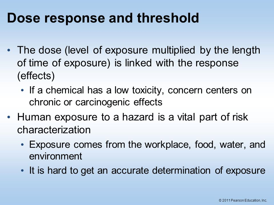 Dose response and threshold