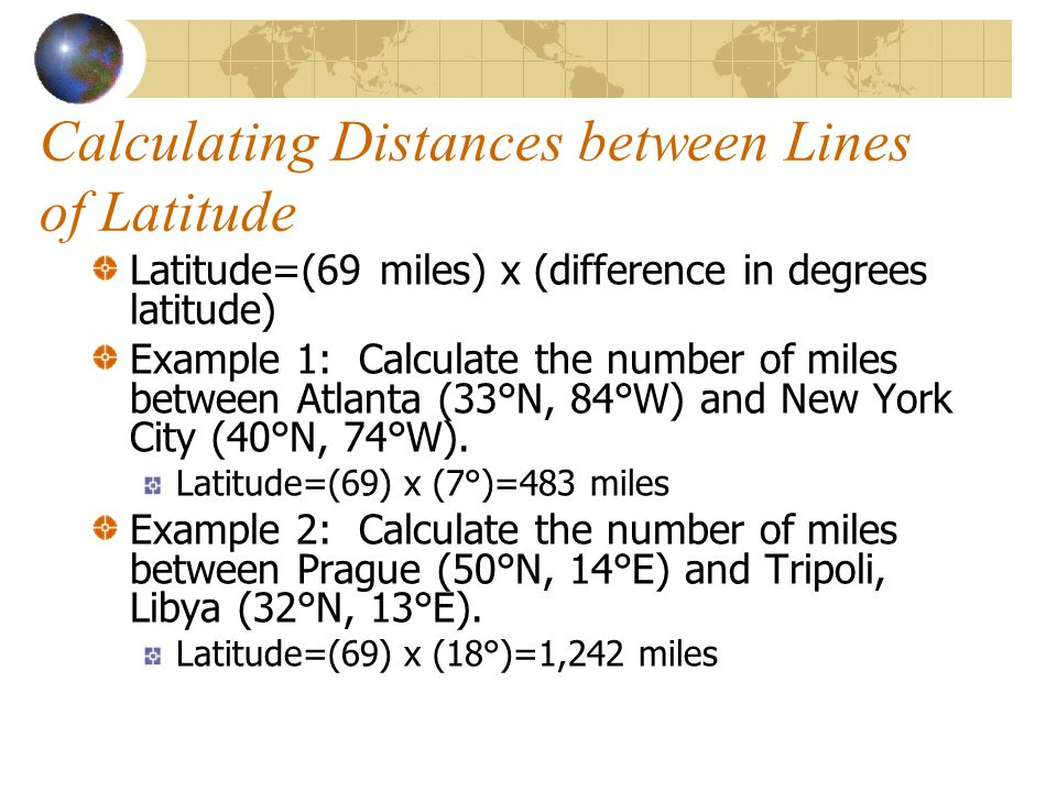 Calculating Distances between Lines of Latitude