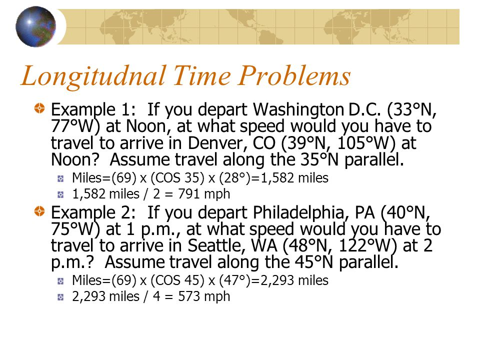 Longitudnal Time Problems