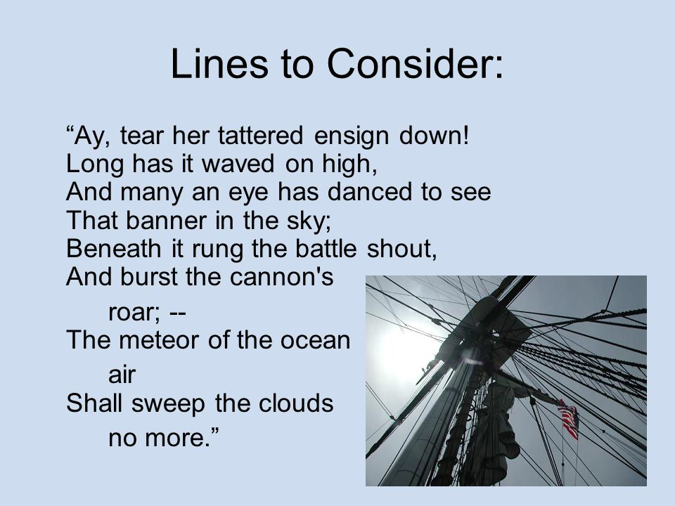 Lines to Consider: