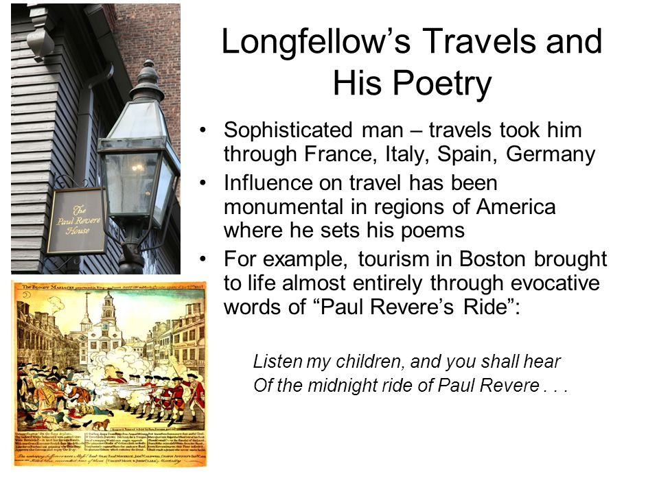 Longfellow's Travels and His Poetry