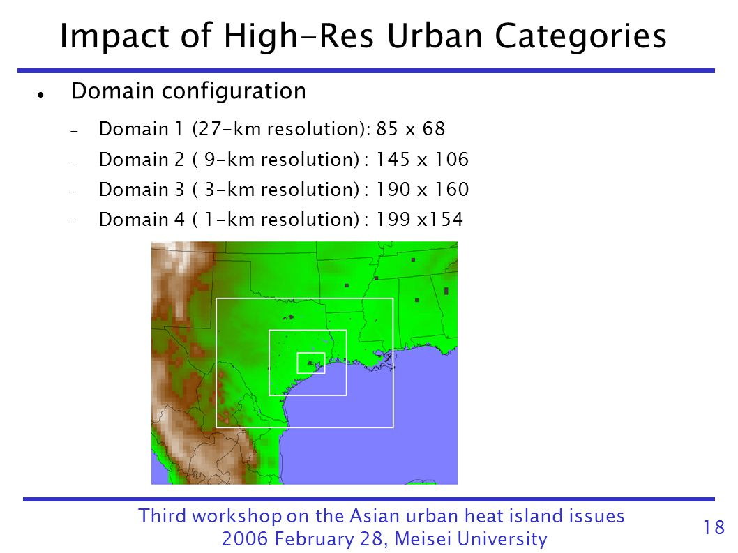 Impact of High-Res Urban Categories