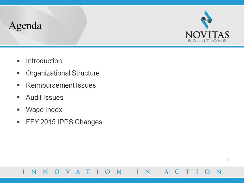 Agenda Introduction Organizational Structure Reimbursement Issues