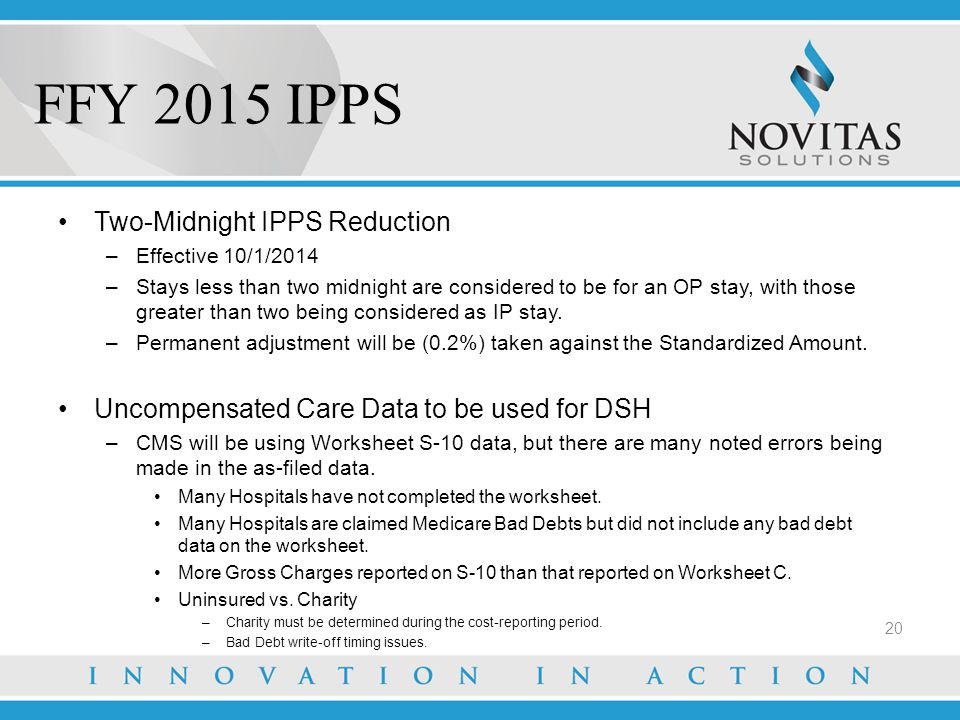 FFY 2015 IPPS Two-Midnight IPPS Reduction
