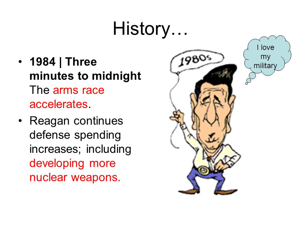 History… 1984 | Three minutes to midnight The arms race accelerates.