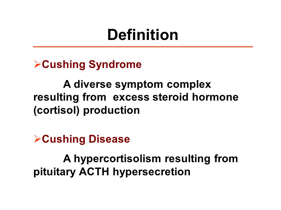 Definition Cushing Syndrome