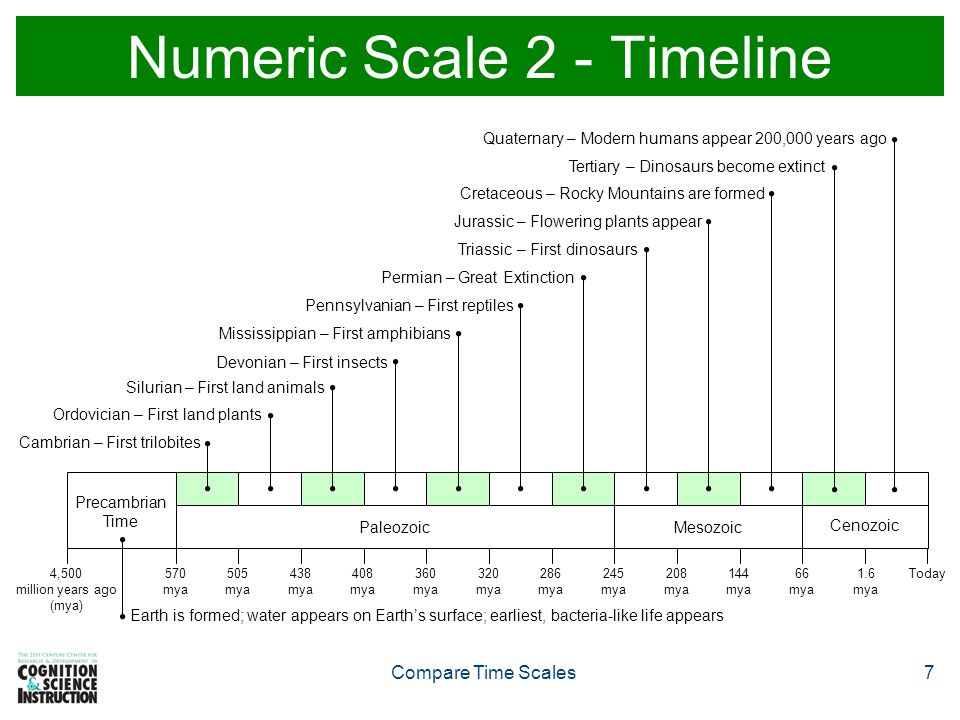 Numeric Scale 2 - Timeline