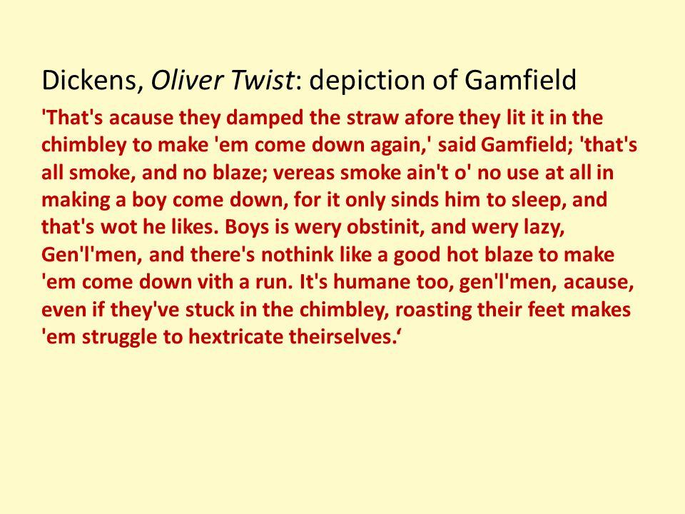 Dickens, Oliver Twist: depiction of Gamfield