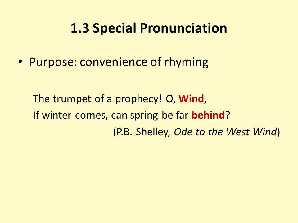 1.3 Special Pronunciation