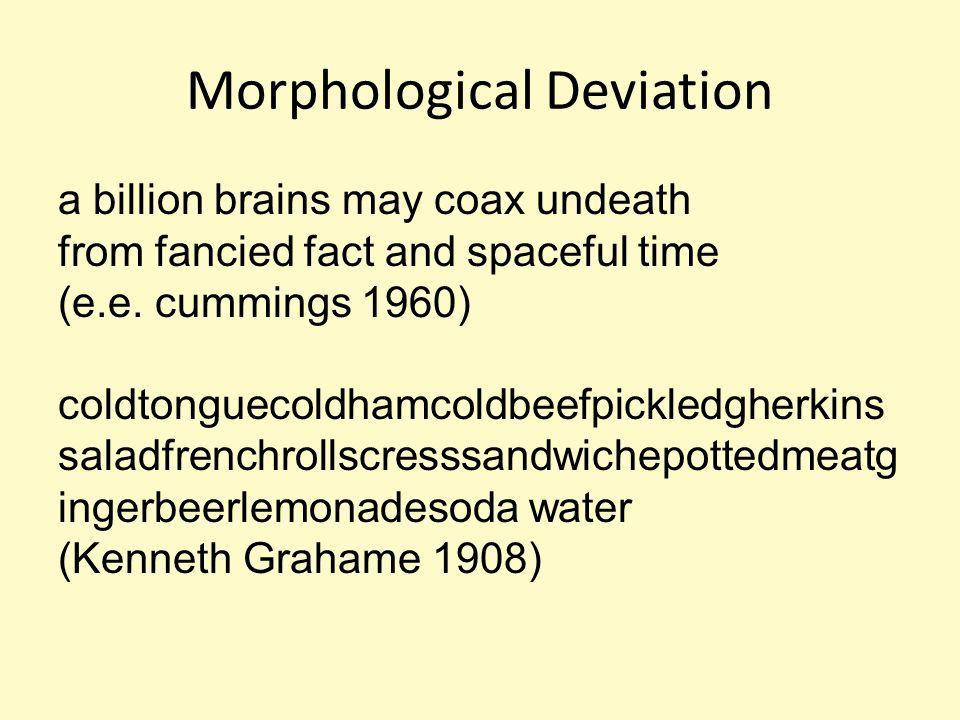 Morphological Deviation