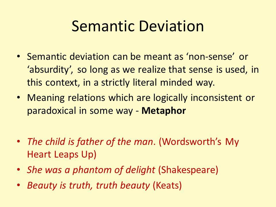 Semantic Deviation