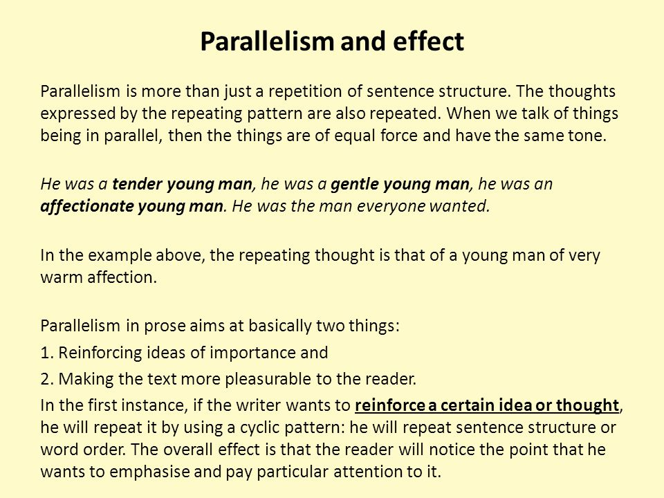 Parallelism and effect