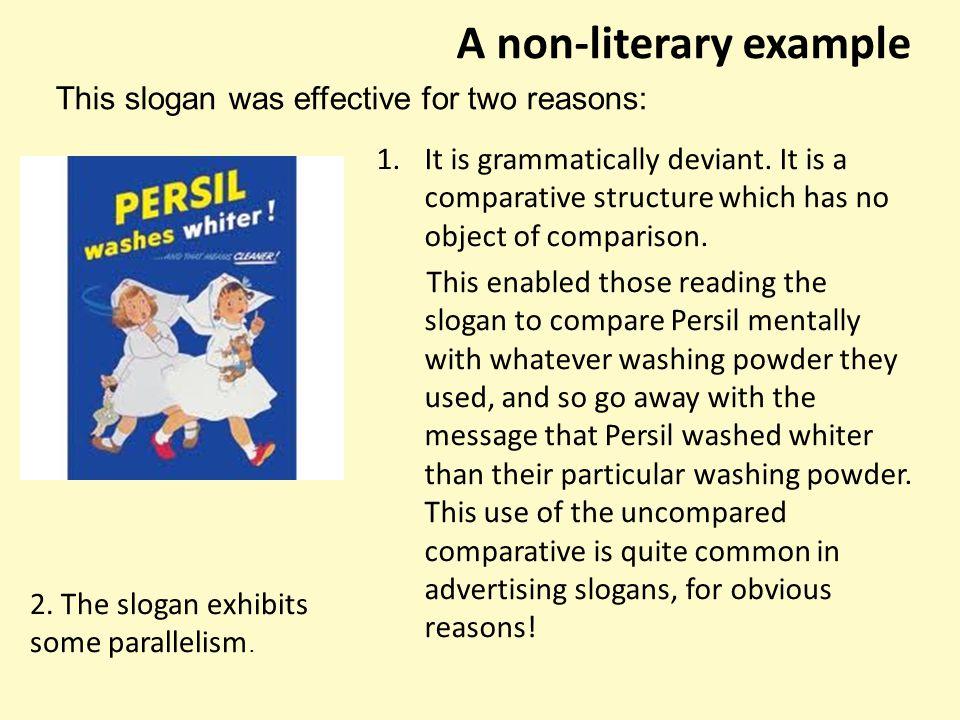 A non-literary example