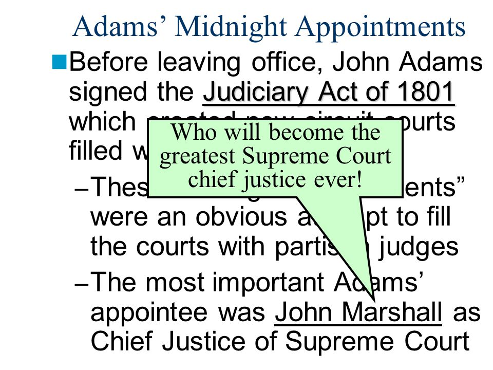Adams' Midnight Appointments