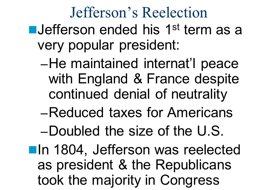 Jefferson's Reelection