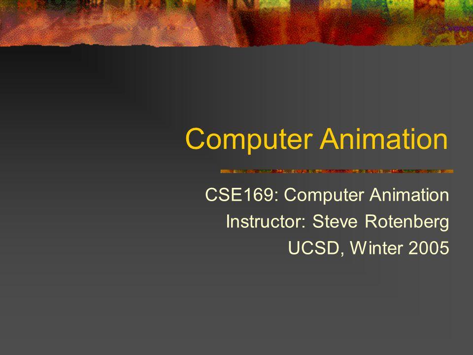 Computer Animation CSE169: Computer Animation