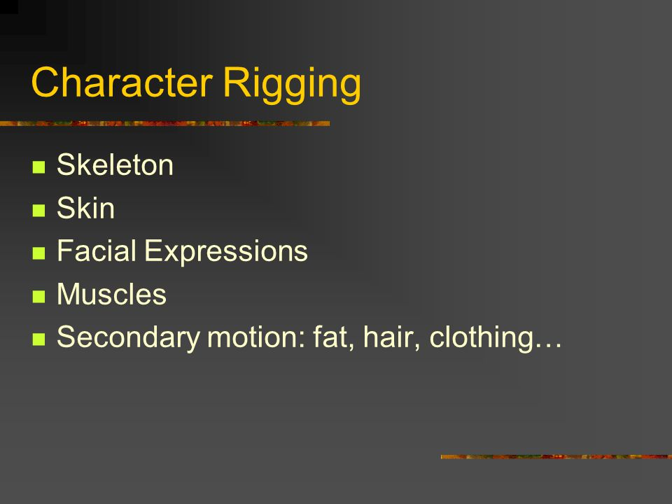 Character Rigging Skeleton Skin Facial Expressions Muscles