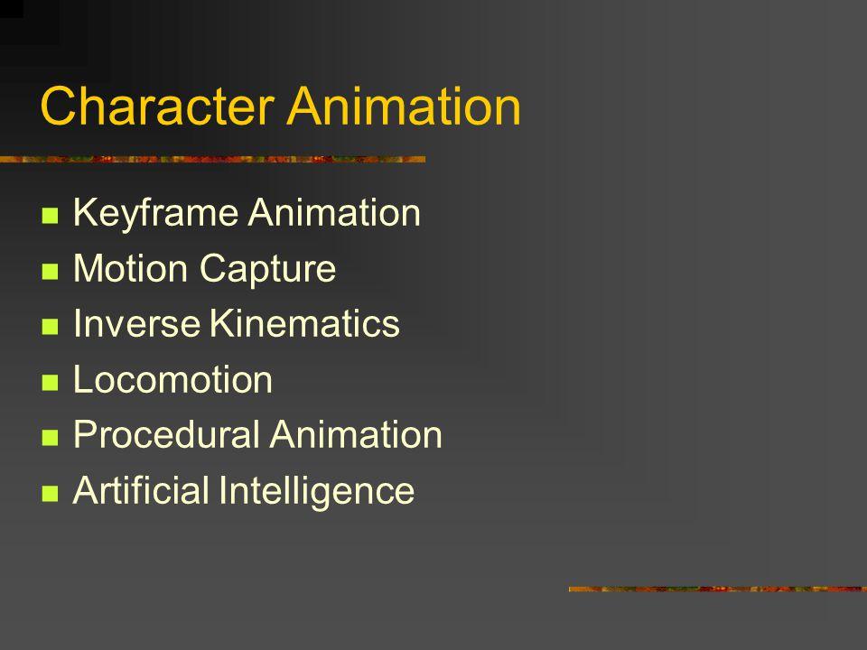Character Animation Keyframe Animation Motion Capture