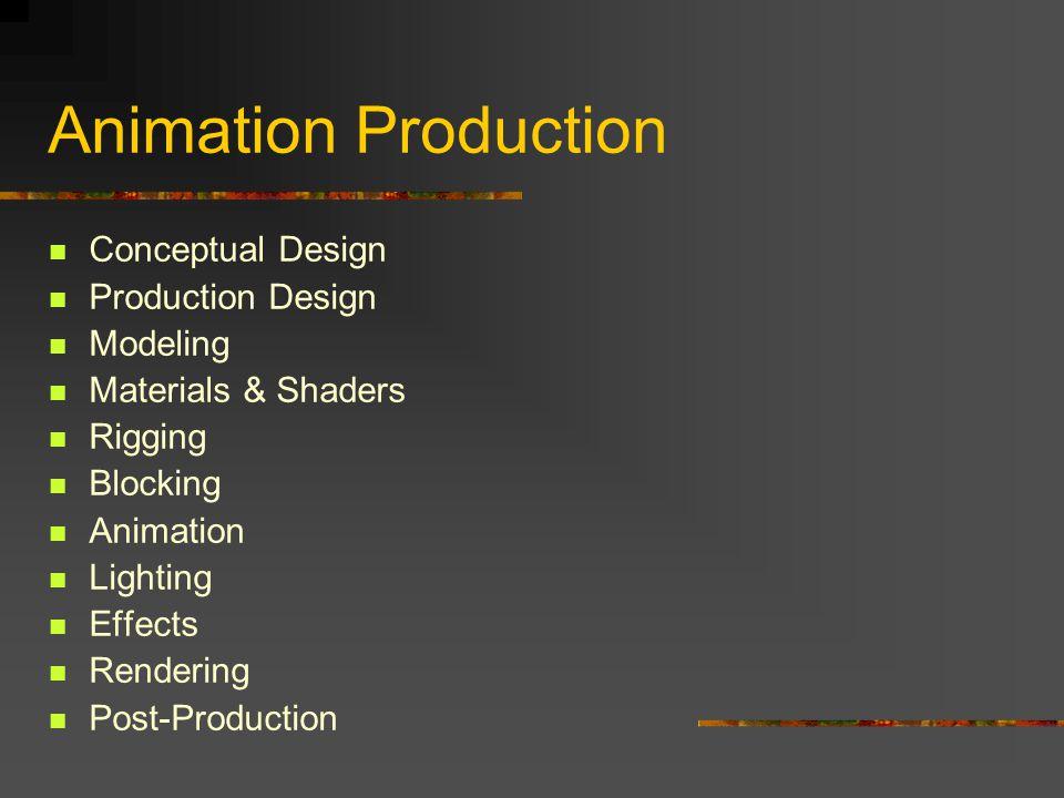 Animation Production Conceptual Design Production Design Modeling