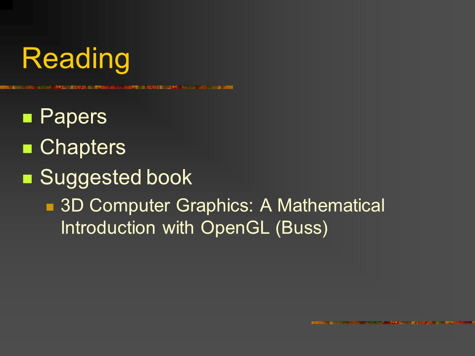 Reading Papers Chapters Suggested book