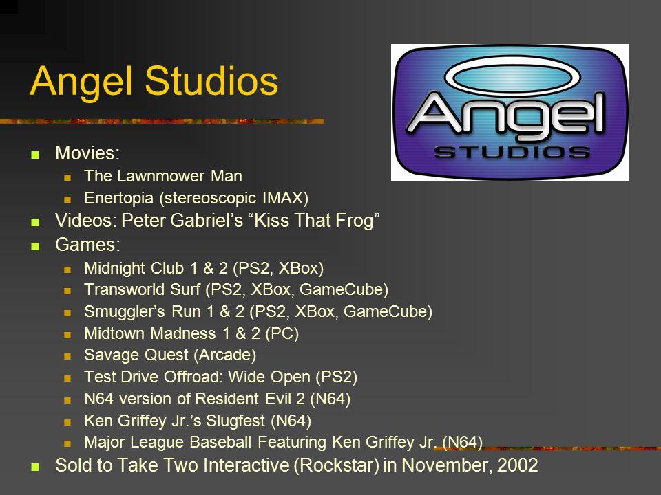 Angel Studios Movies: Videos: Peter Gabriel's Kiss That Frog Games: